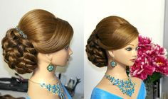 Bridal, wedding hairstyles for long hair.