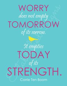Corrie Ten Boom quote on 11x14 inch canvas by EstSignsFeedsOrphans, $35.00