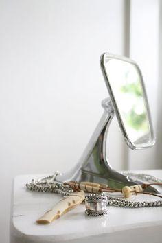 Decor Spotting: Upcycled Side Mirror Vanity