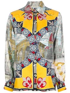 MOSCHINO VINTAGE City Print Blouse  | The House of Beccaria