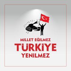 Vektörel Çizim | Millet Eğilmez Türkiye Yenilmez