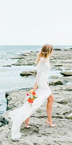 30 Beach Wedding Dresses Perfect For Destination Weddings ❤ See more: http://www.weddingforward.com/beach-wedding-dresses/ #wedding