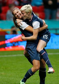 Alex Morgan & Megan Rapinoe.