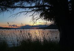 This image of sunset over Trincomali Channel was captured from Montague Harbor in the Gulf Islands of British Columbia.