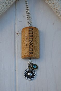 Wine cork necklace $20 @Melissa Squires Shepard-Wuennenberg