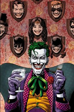 The Joker! They all wear his smile. He's the only one who manages to look good in it.