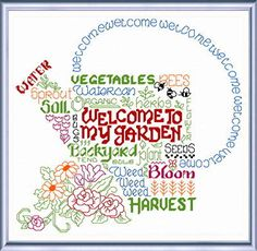 Lets Garden cross stitch pattern by Ursula Michael.
