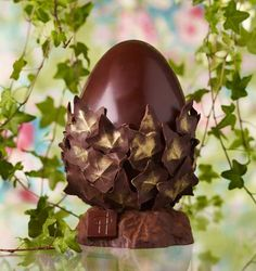 Easter Chocolate, Chocolate Art, Chocolate Lovers, Luxury Easter Eggs, Artisan Chocolatier, Cake Packaging, Egg Decorating, Macarons, Planter Pots