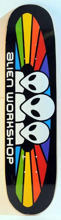 my alien workshop skateboard my dad bought me!!! too bad i only knew how to ollie