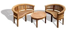 Banana Coffee Table Outdoor ASSEMBLED Garden Set (No Cushions) - Jati Brand, Quality & Value: Amazon.co.uk: Kitchen & Home