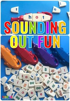 Sounding out word fun #phonics #learningtoread #earlylearning