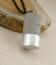 Concrete Cylinder Long Necklace | Handmade Jewelry – Made For Giving