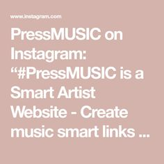 "PressMUSIC on Instagram: ""#PressMUSIC is a Smart Artist Website - Create music smart links and landing pages to help grow your fanbase and increase streams &…"" Create Website, Landing, Music, Artist, Instagram, Musica, Musik, Muziek, Music Activities"