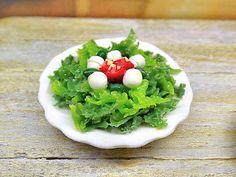 Miniatura scala 1:12 insalata con mozzarella e di PiccoliSpazi