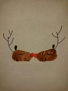 #reindeer #love #christmas #diy #winter #painting