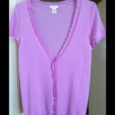 🌸FINAL SALE!   J. CREW Cashmere sweater GORGEOUS Lovely light lavender color sweater. 100% cashmere So light and soft. Missing one button but in good condition. J. Crew Tops