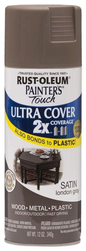 Painter's Touch Ultra Cover 2X Satin London Gray Spray Paint - 12 oz at Menards