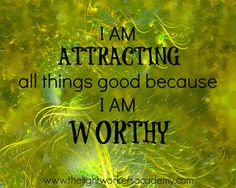 I AM attracting all things good because I AM worthy Cool Words, Wise Words, You Deserve Better, You Are Worthy, Powerful Words, Happy Thoughts, Positive Affirmations, Healing Affirmations, Law Of Attraction