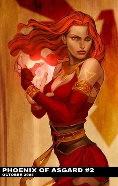 Jean Grey Crossover  Asgard Jean grey and Thor Phoenix Phoenix of Asgard