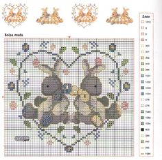 Schema punto croce Corredino 15
