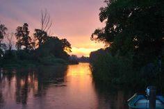 Sonnenaufgang in Bralitz an der Alten Oder