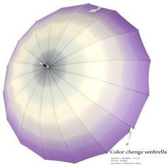 Color change umbrella 和風16本骨ぼかしジャンプ長雨傘