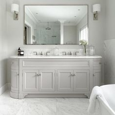 Double Vanity Mirrors For Bathroom Mirror Ideas Bath