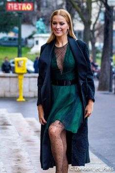Paris Fashion Week Petra Nemcova Street Style Haute Couture SS18
