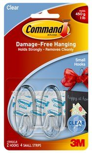 17092CLR Command(TM) Clear Small Hooks