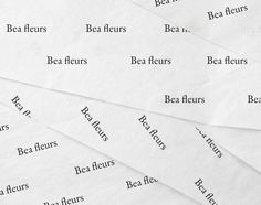 Bea fleurs by Alexandra Nolot, via Behance