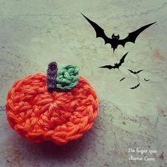 No lugar que chamo Casa...: Mini abóboras de crochet - tutorial