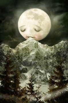 The Peckish Moon - Beautiful!