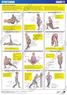 Fitness Illustrated - Instructional exercise illustrations from illustrator Matt. - Fitness and Exercises Fitness Humor, Fitness Workouts, Yoga Fitness, Fitness Motivation, Health Fitness, Muscle Fitness, Stretching Exercises, Stretches, Quad Stretch