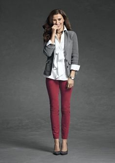 cool-red-and-grey-work-outfits-to-get-inspired-5