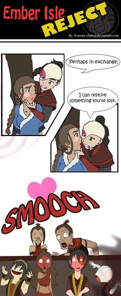 The Last panel just made me laugh so hard!// I love Aang going into Avatar state