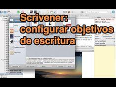 Scrivener: Configurar objetivos de escritura (tutorial) - YouTube