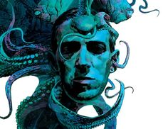 """""""HP Lovecraft"""" for Fatale No. 1 by Sean Phillips. Hp Lovecraft, Yog Sothoth, Modern Surrealism, Horror Fiction, Call Of Cthulhu, Horror Art, Horror Books, Horror Stories, Dark Art"""