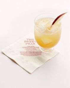 """See the """"Sweet Pear Cocktail"""" in our Cozy Cocktails: Signature Drinks for Fall Weddings gallery"""