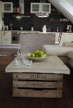 Betongbord med äppellådor | LinneaSthlm | inspiration från IKEA