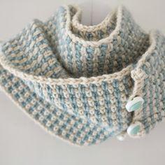ByHaafner, crochet, pattern, Fifties Cowl, woven crochet stitch