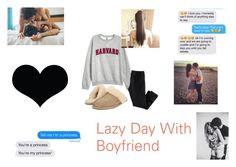 """""""Lazy Day With Boyfriend"""" by emclifford ❤ liked on Polyvore featuring H&M, UGG, BRIT*, love and boyfriendandgirlfriend"""
