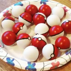 Paint ping pong balls to look like Pokemon balls!