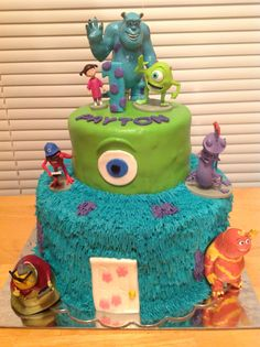 Monsters inc. birthday cake by Jennifer Amburgy