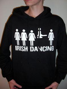 Irish Dancing  hoodie sweatshirt by JbKb on Etsy, $35.00