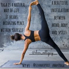 #Yoga is a natural way of life. It means bringing #peace within yourself and a beautiful unification between #mind, #body and #spirit.