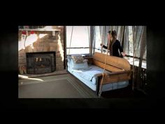 Adjustable porch furniture by The Porch Company - Swing Bed & Porch Swing - watch how it converts!