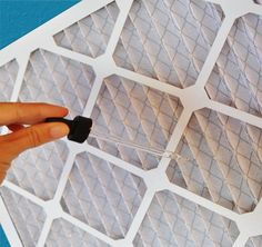 Next time you change the air filter, try adding few drops of essential oil to the filter. Every time the air blows, it will circulate a beautiful scent throughout the home.