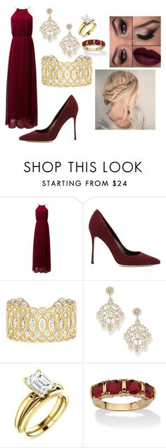 """Christal"" by gabiesteves ❤ liked on Polyvore featuring Sergio Rossi, Buccellati, Jose & Maria Barrera and Palm Beach Jewelry"