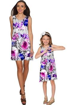 Floral Touch Sanibel Empire Waist Dress - Girls - Pineapple - Mommy and Me Clothing