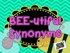 This activity targets synonyms. Each bee card features a word. Match the bee card to a flower card with a word that means the same thing.Ex. bee card (freezing) --> flower card (cold) There are a total of 25 bee cards and 25 flower cards for a total of 50 cards.Kindly leave feedback if you download!